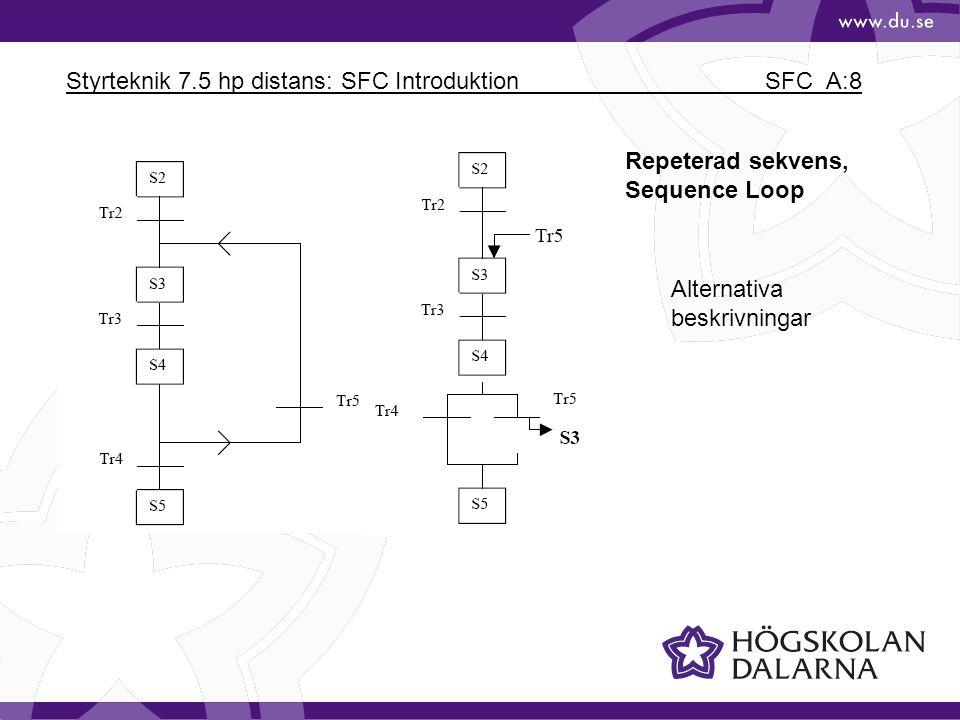 Styrteknik 7.5 hp distans: SFC Introduktion SFC_A:8 Repeterad sekvens, Sequence Loop Alternativa beskrivningar