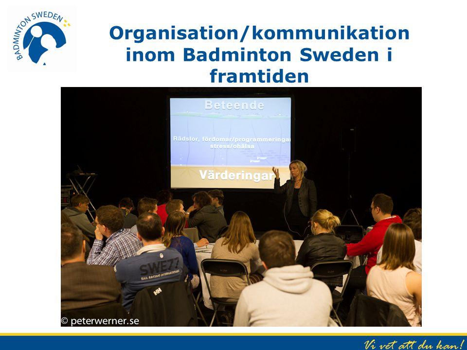 Organisation/kommunikation inom Badminton Sweden i framtiden
