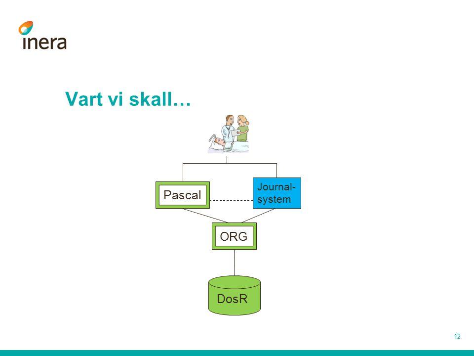 Vart vi skall… 12 Journal- system DosR Pascal ORG