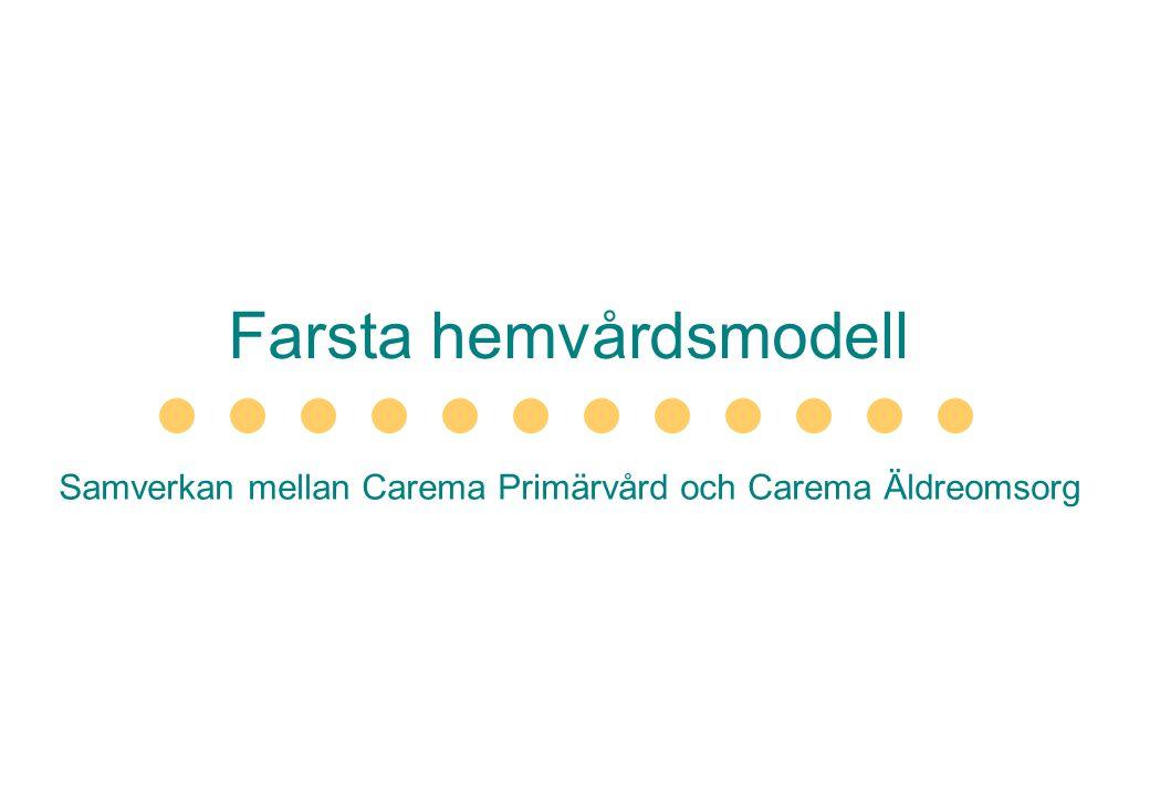 Farsta hemvårdsmodell Samverkan mellan Carema Primärvård och Carema Äldreomsorg