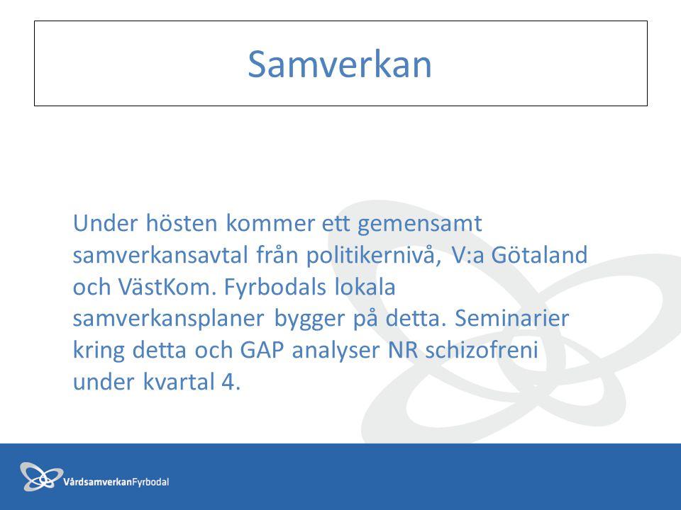 Under hösten kommer ett gemensamt samverkansavtal från politikernivå, V:a Götaland och VästKom. Fyrbodals lokala samverkansplaner bygger på detta. Sem
