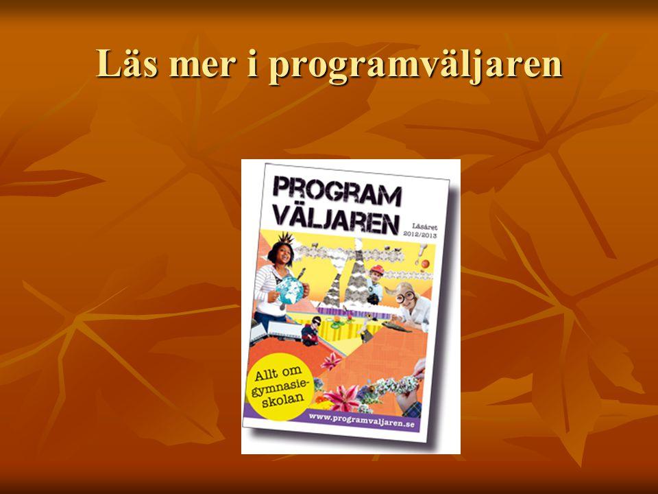 Läs mer i programväljaren