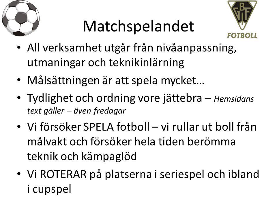 Seriespelandet Vi deltager med 3,5 lag i seriespel… Vi har 1 lag Orange i P10 Öst – mot BGIF 05 Blå, Bergvik, Ljusne, Norrala Vit, Sandarne, Strand Svart, Stugsund, Söderala Lag 04 Blå i P10 Väst – mot Arbrå, BGIF 05Orange, Edsbyn Vit & Röd, Rengsjö, Trönö och Växbo samt en vakant plats I P11 väst deltager vi med 1,5 lag – Bgif 03/04, Edsbyn, Ljusdal 03-04 & 04 gul, Kilafors, Strand 03 Svart och Trönö