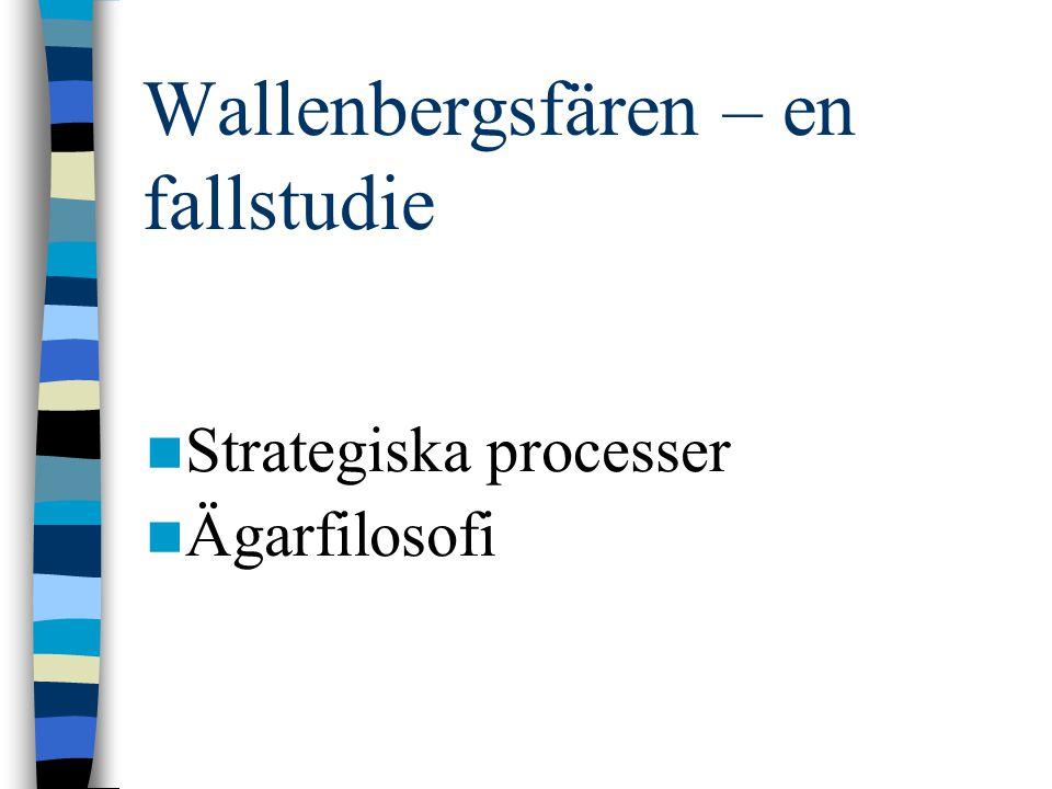Wallenbergsfären – en fallstudie Strategiska processer Ägarfilosofi