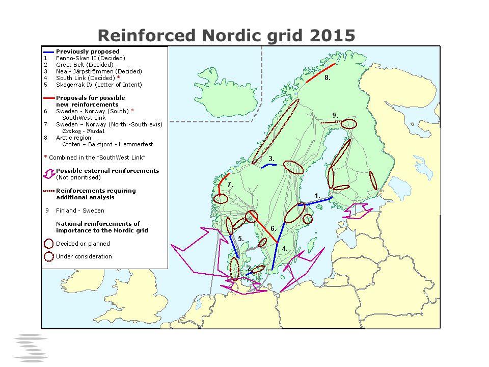 Reinforced Nordic grid 2015