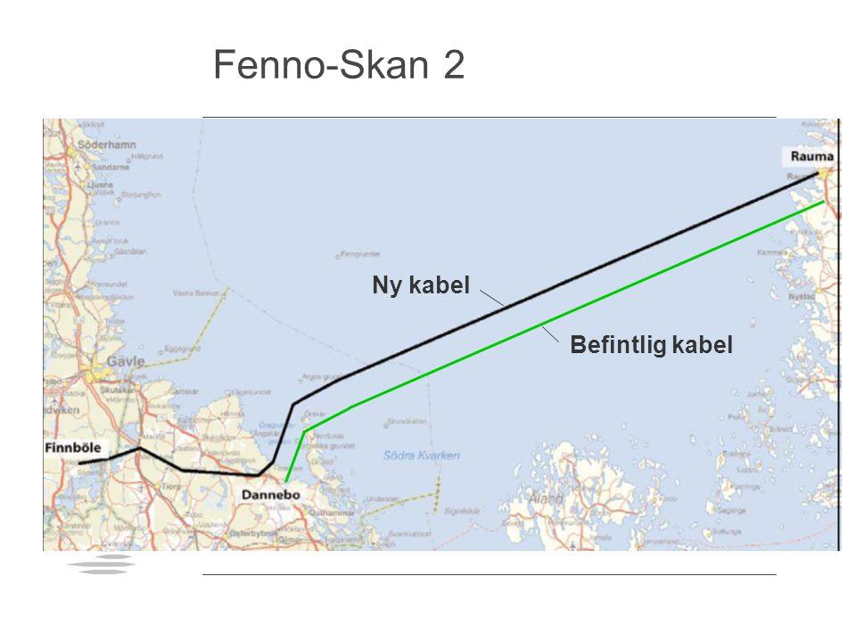 Fenno-Skan 2 Befintlig kabel Ny kabel