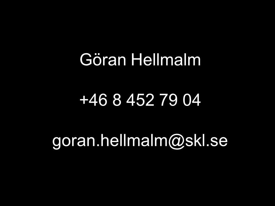 Göran Hellmalm +46 8 452 79 04 goran.hellmalm@skl.se