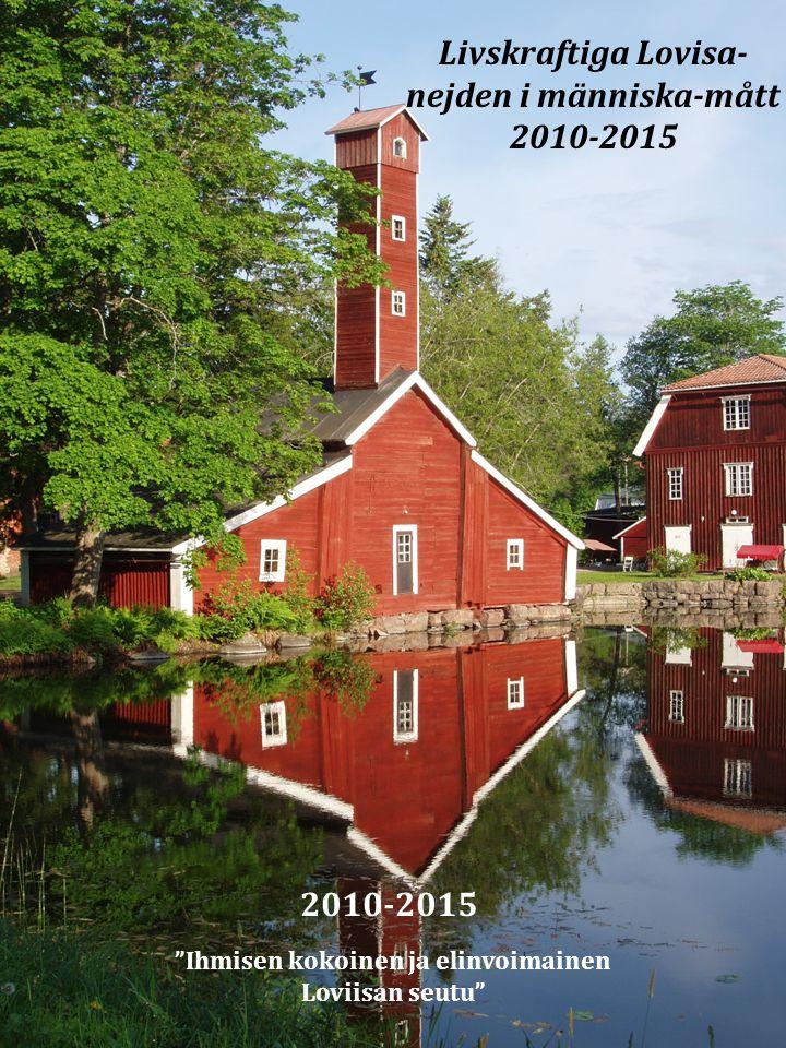 """""""Ihmisen kokoinen ja elinvoimainen Loviisan seutu"""" 2010-2015 Livskraftiga Lovisa- nejden i människa-mått 2010-2015"""