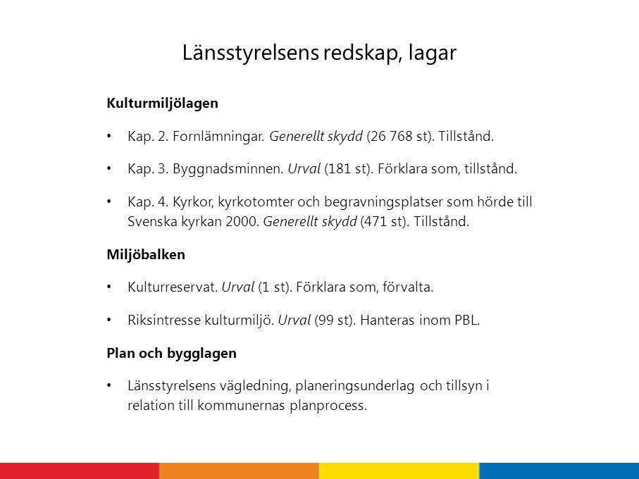 Länsstyrelsens redskap, lagar Kulturmiljölagen Kap.