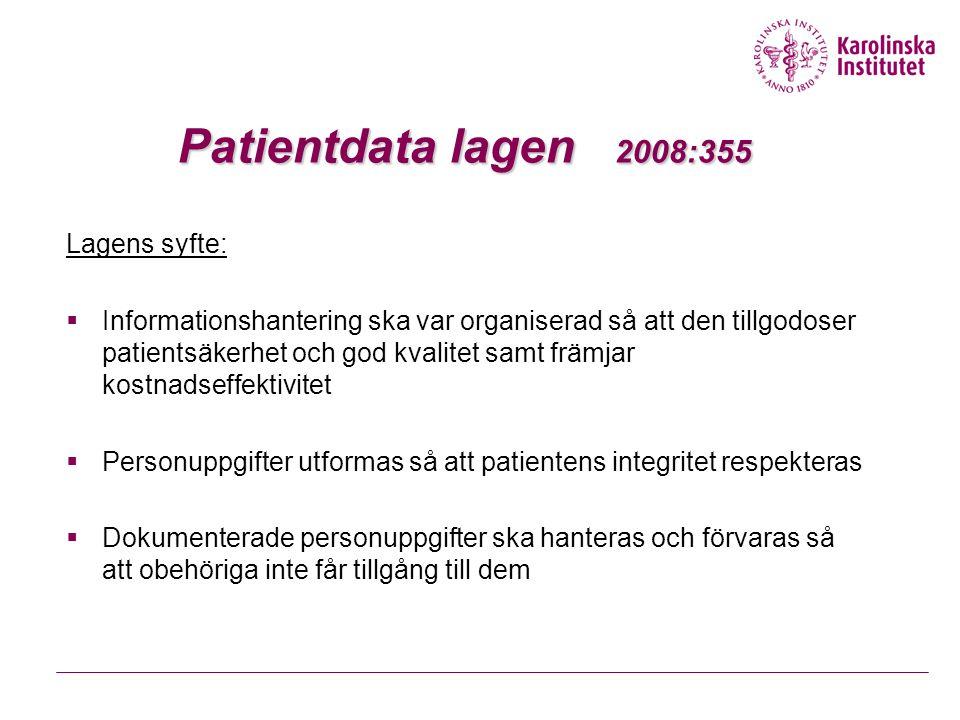 27 mars 2015Ann-Christin Johansson24 Patientdata lagen 2008:355  Sammanhållen journalföring, flera vårdgivare kan ge och få direktåtkomst till varandras journalhandlingar om de uppfyller patientdatalagen  Reglering av inre sekretess – bara den som behöver uppgifterna för sitt arbete får ta del av patientuppgifterna, ställs krav på behörighetstillstånd och åtkomstkontroll  Patienten har rätt att spärra uppgifter