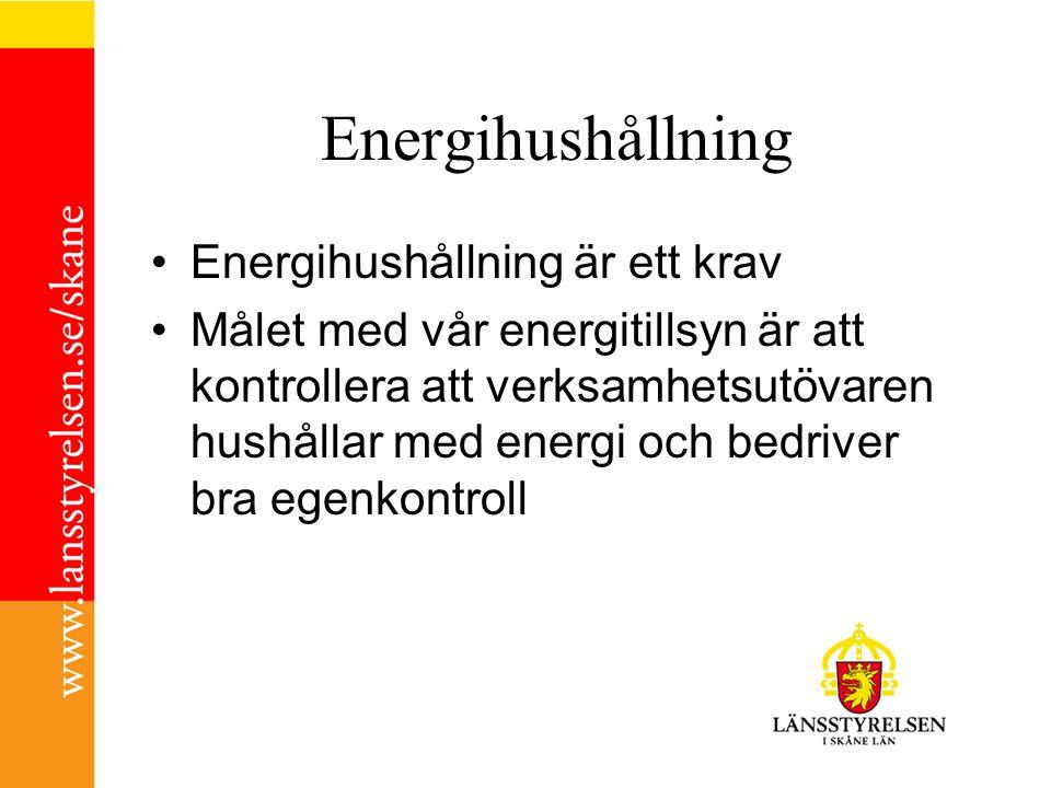 Hösten 2012 Telefonkontakt Översänder informationsmaterial - Ta ansvar för miljön… - Goda exempel (PROEFF) - Vägledning för energieffektivisering i små och medelstora företag, Energimyndigheten - Energikartläggningscheckar, Energimyndigheten