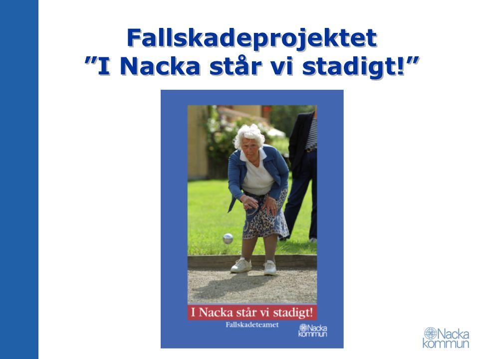 """Fallskadeprojektet """"I Nacka står vi stadigt!"""""""