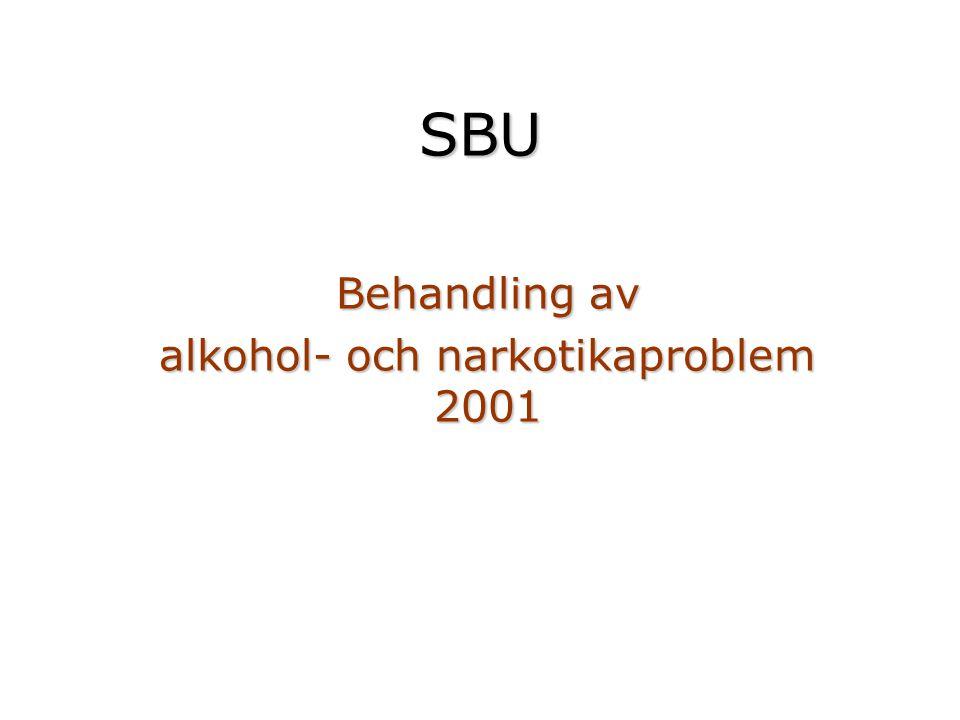 SBU Behandling av alkohol- och narkotikaproblem 2001