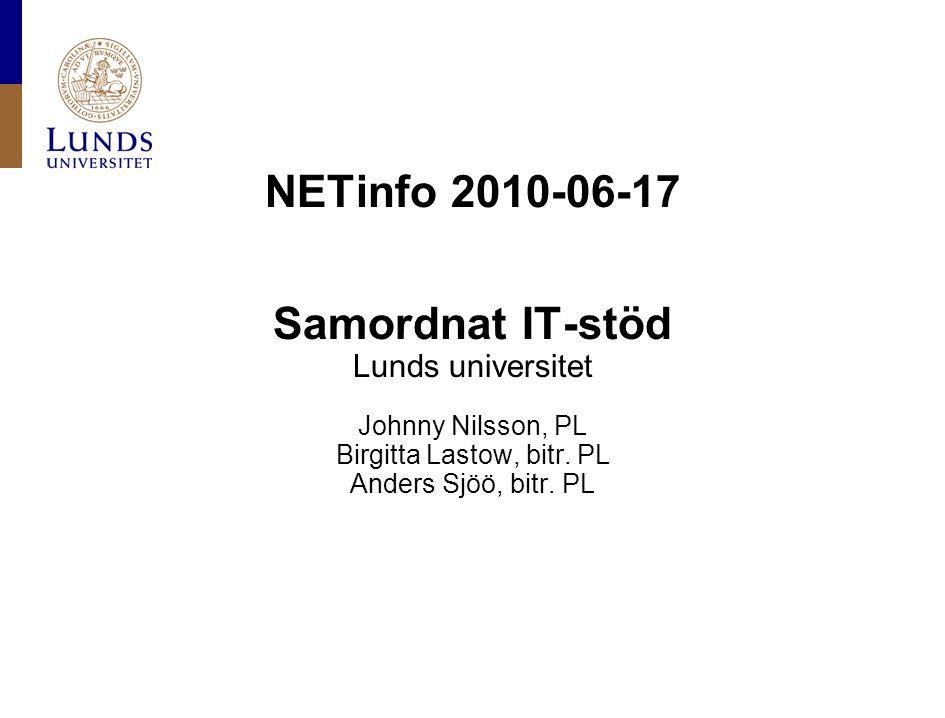Lunds universitet / Samordnat IT-stöd vid LU / Juni 2010 Förankringsfasen Grupparbete.
