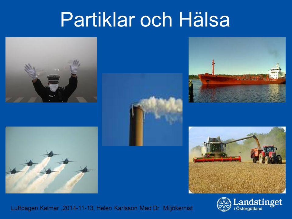 Luftdagen Kalmar,2014-11-13, Helen Karlsson Med Dr Miljökemist Partiklar och Hälsa