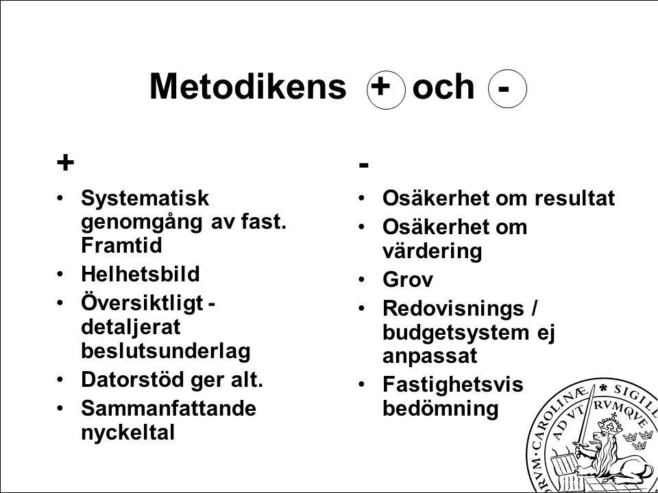 Metodikens + och - + Systematisk genomgång av fast.
