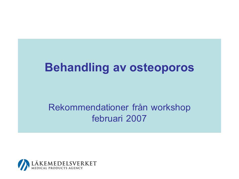 62 Sekundär osteoporos I Sjukdomar som leder till ökad risk för osteoporos Inflammatorisk reumatisk sjukdom Inflammatorisk tarmsjukdom Malabsorption (t.ex.