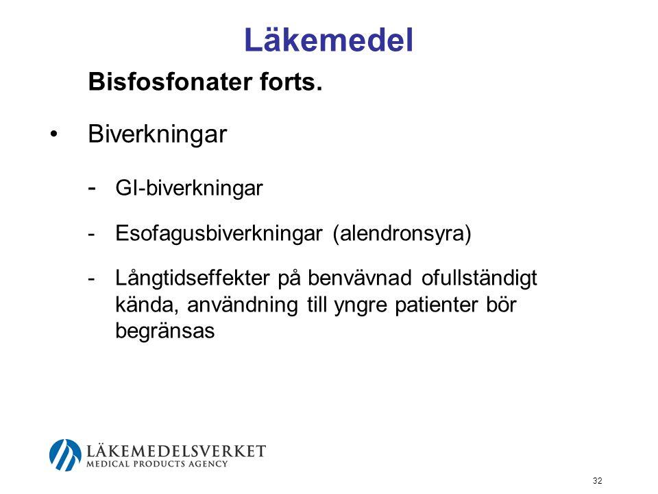 32 Läkemedel Bisfosfonater forts.