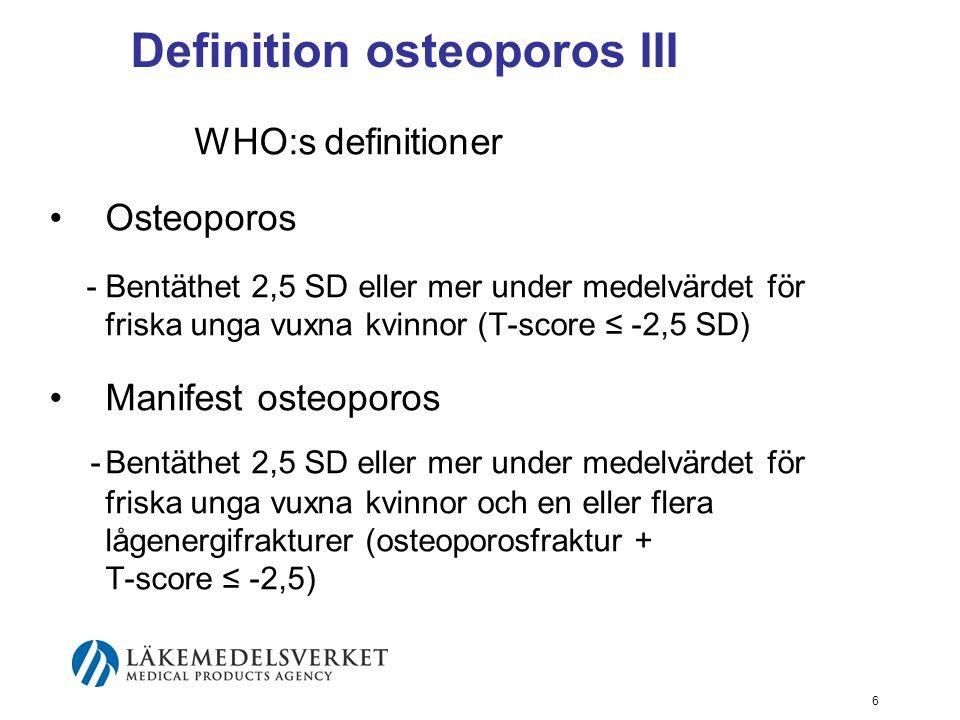 7 Ordförklaring I BMD: Bone mineral density (g/cm 2 ) DXA: Dual X-ray absorptiometry BMI: Body mass index = vikt/längd 2 T-score = antalet standardavvikelser från (SD) från medelvärdet i en ung frisk population av samma kön Z-score = antalet standardavvikelser från (SD) från medelvärdet i en åldersmatchad population av samma kön