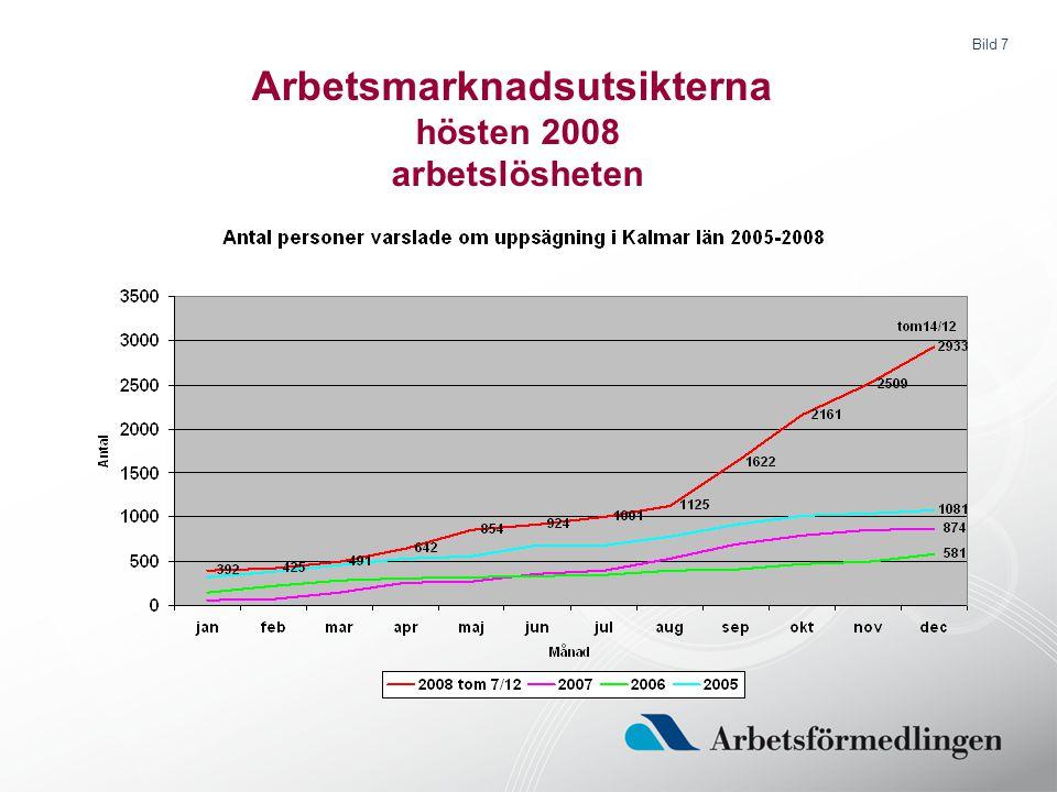 Bild 7 Arbetsmarknadsutsikterna hösten 2008 arbetslösheten
