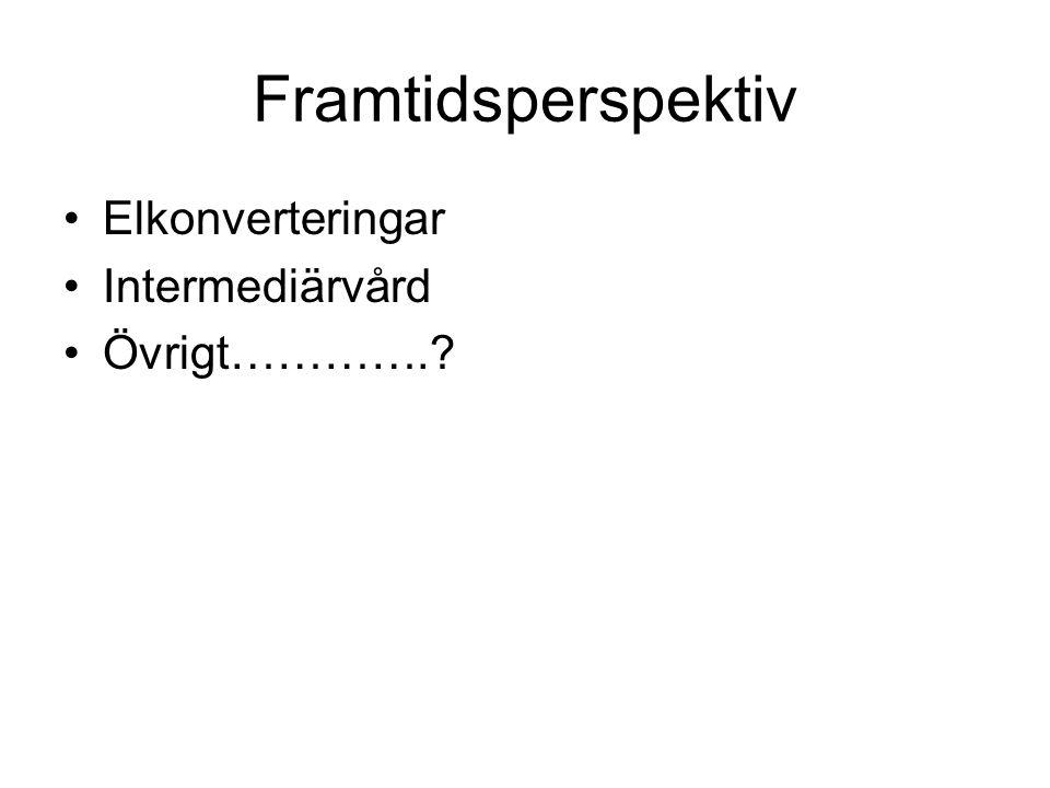 Framtidsperspektiv Elkonverteringar Intermediärvård Övrigt………….