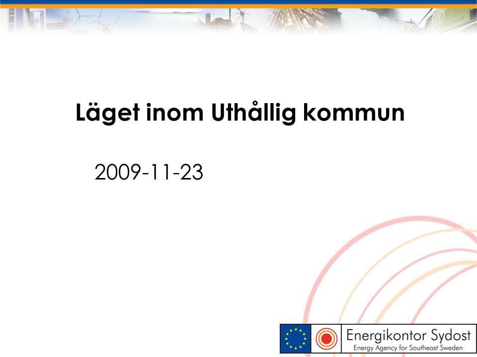 Läget inom Uthållig kommun 2009-11-23