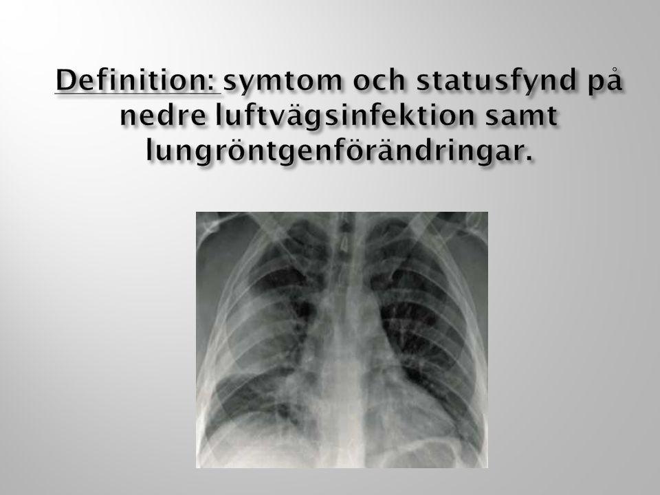Anamnes: Rökning.Tid sjukdom. Debut. Hosta. Omgivning.