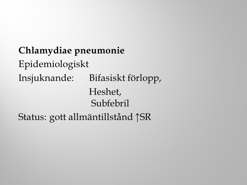 Legionella Exposition utomlands, nosokomial smitta.