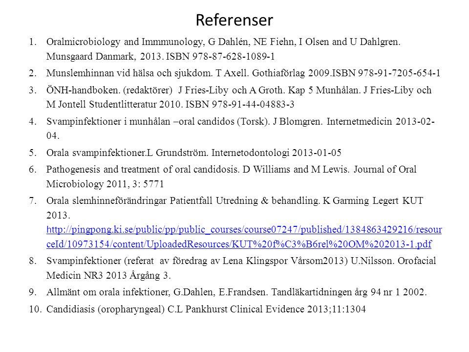1.Oralmicrobiology and Immmunology, G Dahlén, NE Fiehn, I Olsen and U Dahlgren.