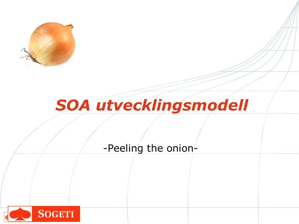 SOA utvecklingsmodell -Peeling the onion-