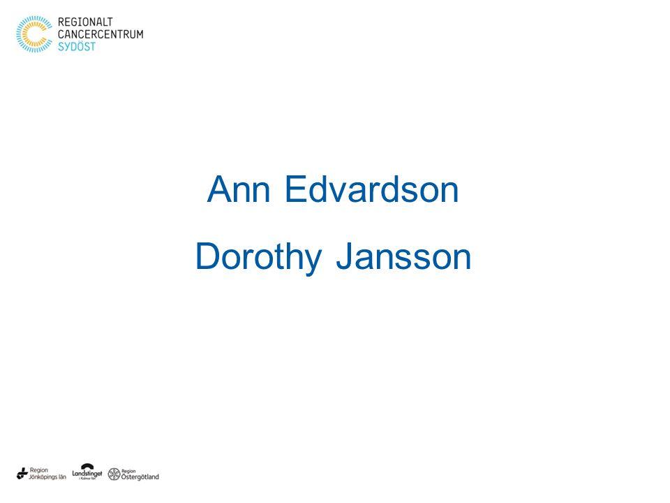 Ann Edvardson Dorothy Jansson