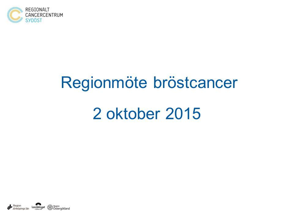 Regionmöte bröstcancer 2 oktober 2015