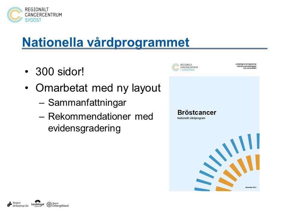 Nationella vårdprogrammet 300 sidor.