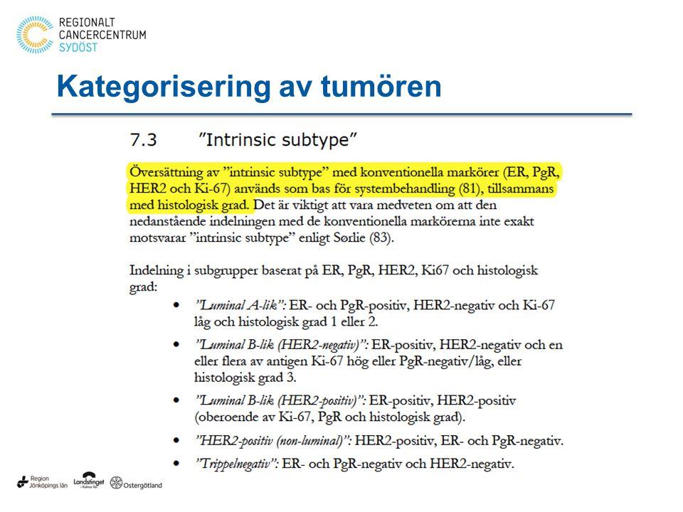 Kategorisering av tumören
