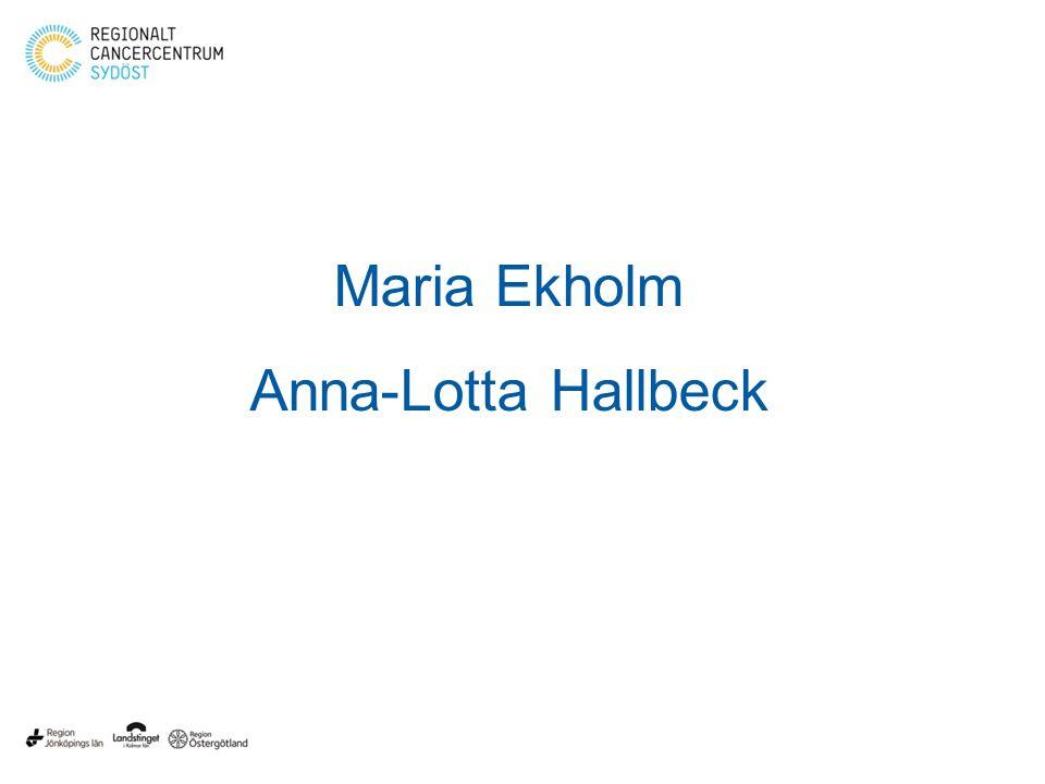 BOSÖ – Bröstonkologi Sydöst Regiondag Nässjö 150206 Maria Ekholm