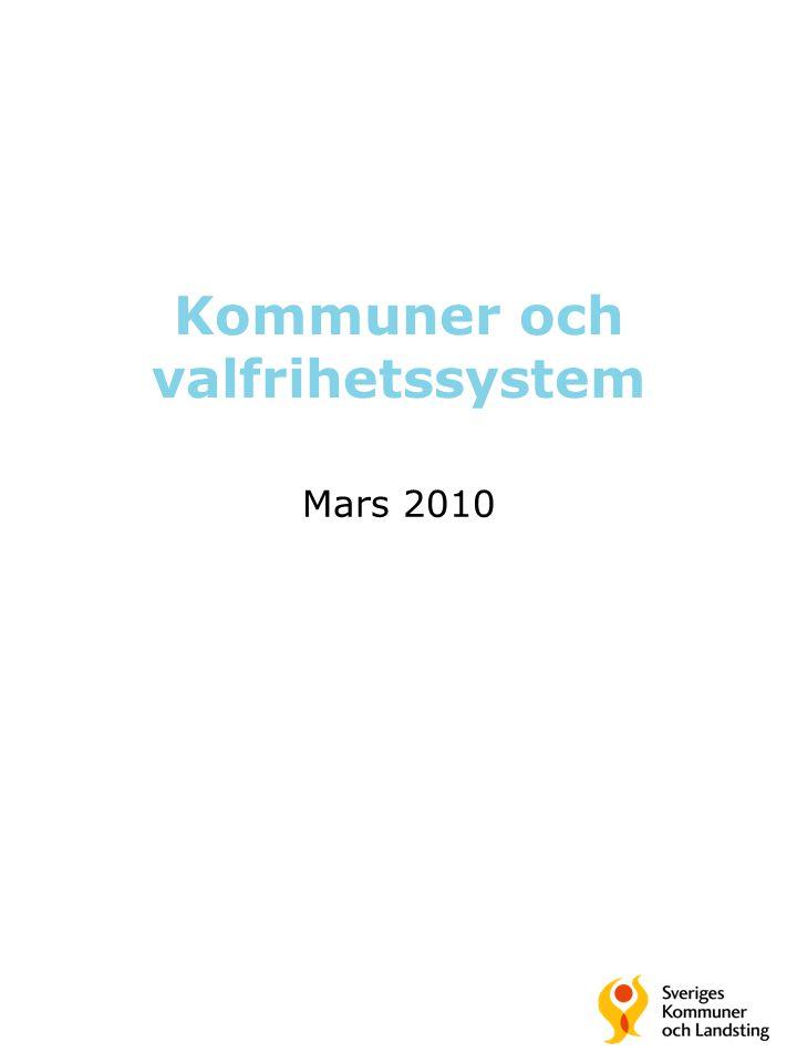 Kommuner och valfrihetssystem Mars 2010
