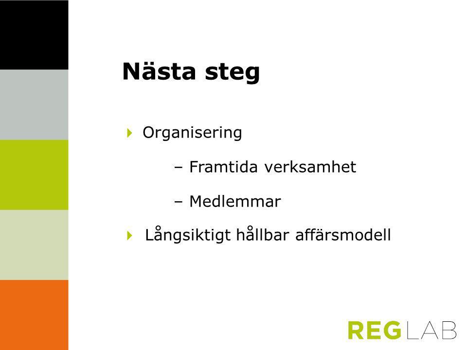 Nästa steg  Organisering – Framtida verksamhet – Medlemmar  Långsiktigt hållbar affärsmodell