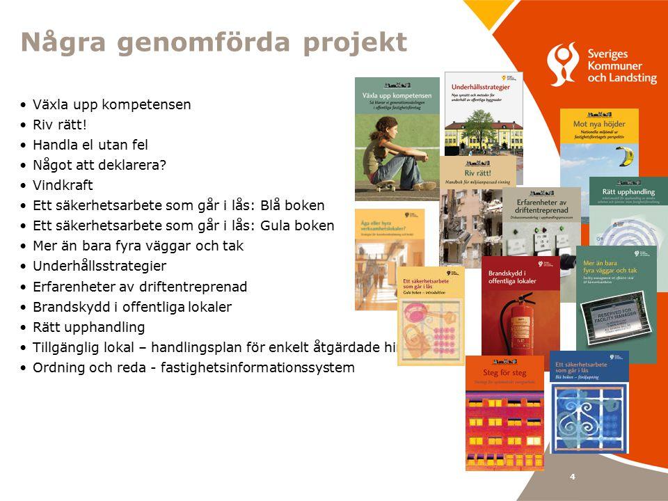 4 Några genomförda projekt Växla upp kompetensen Riv rätt.