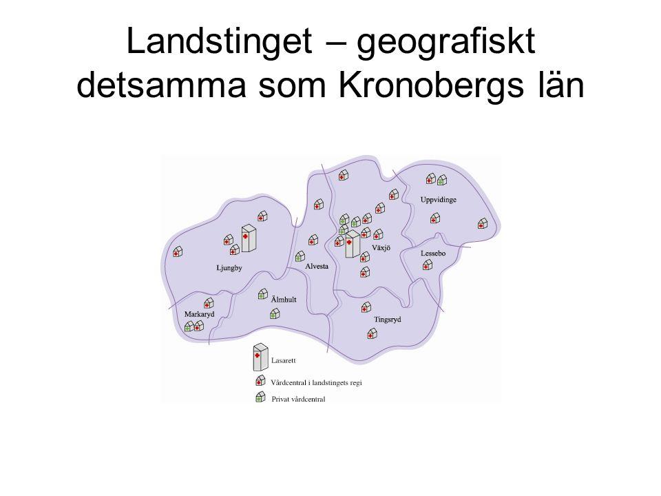 Landstinget – geografiskt detsamma som Kronobergs län
