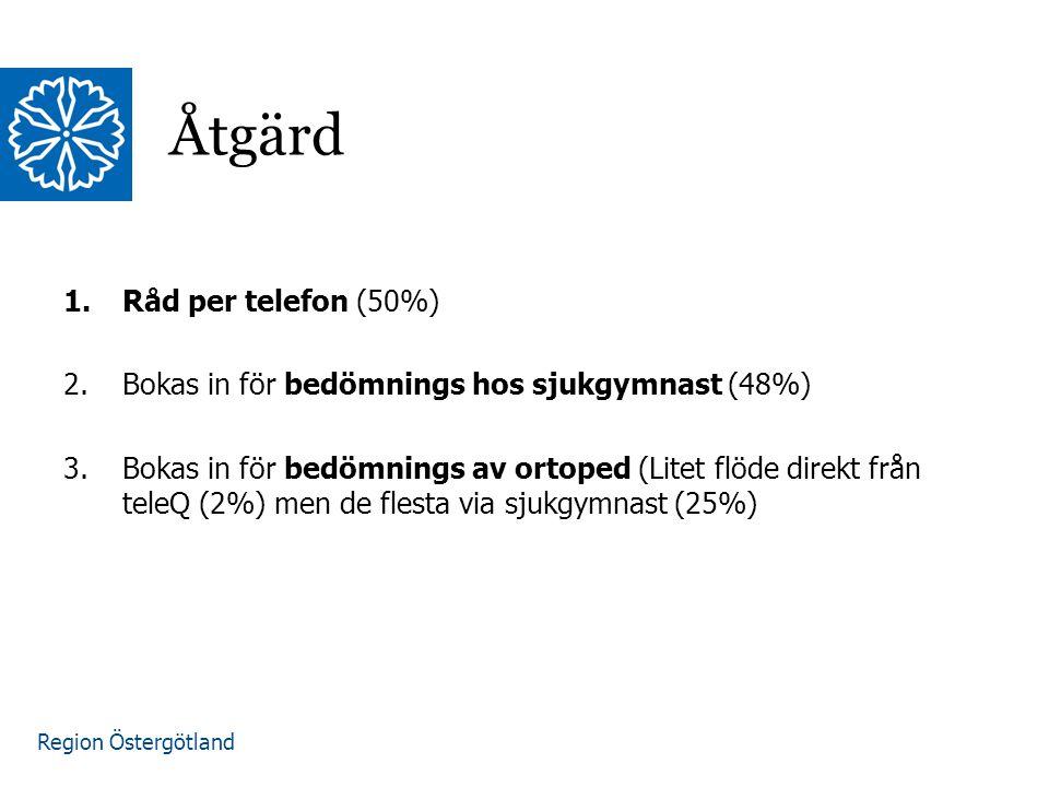 Region Östergötland Den vårdgivare som träffat patienten har även ett uppföljningsansvar då behov finns.