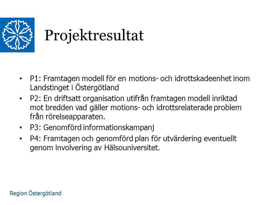 Region Östergötland Projektstart december 2013.