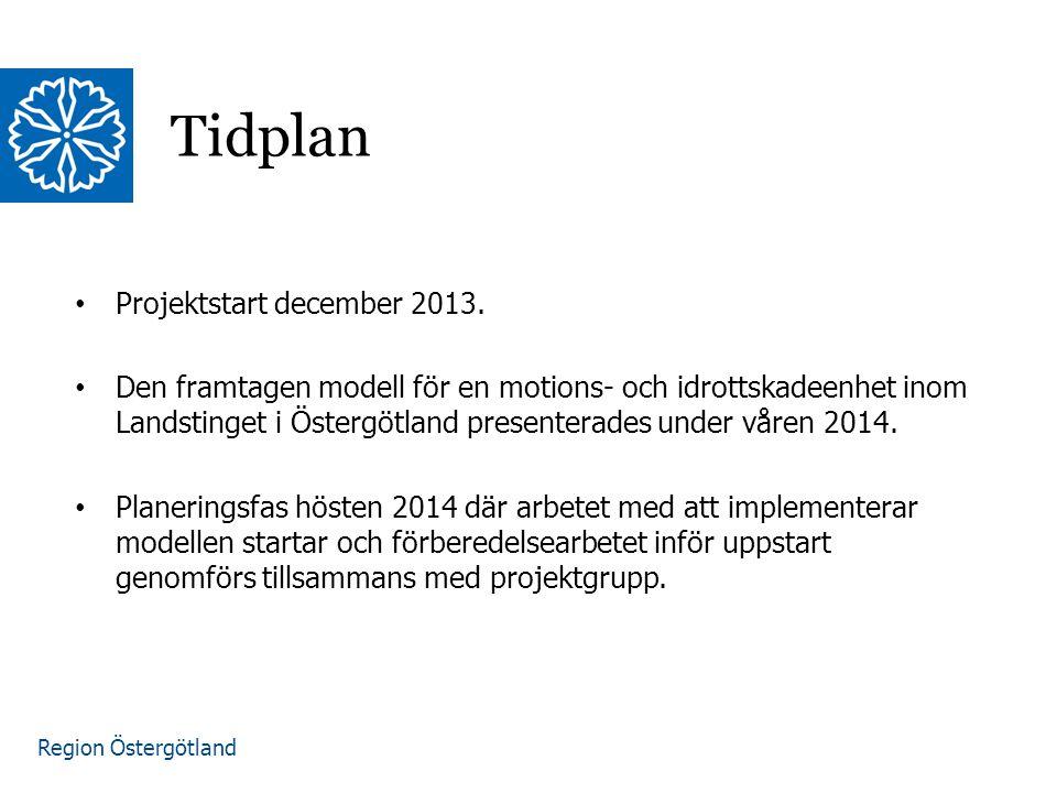 Region Östergötland Verksamheten ska komma igång under första kvartalen 2015 och kommer att startas i olika steg.