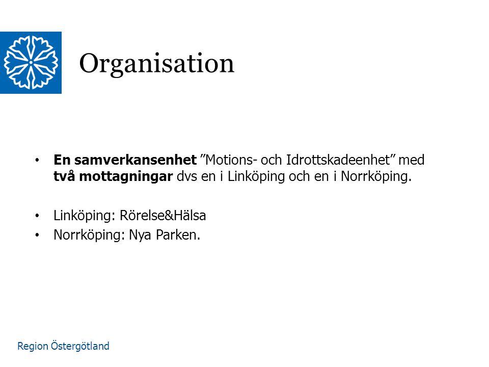 Region Östergötland En sammanhållen grupp på respektive mottagning som tar emot patienter i en gemensam lokal Gruppen består av: Ortopeder anställda inom LiÖ Sjukgymnaster anställda i LiÖ Lagetablerade sjukgymnaster Bemanning på enheten