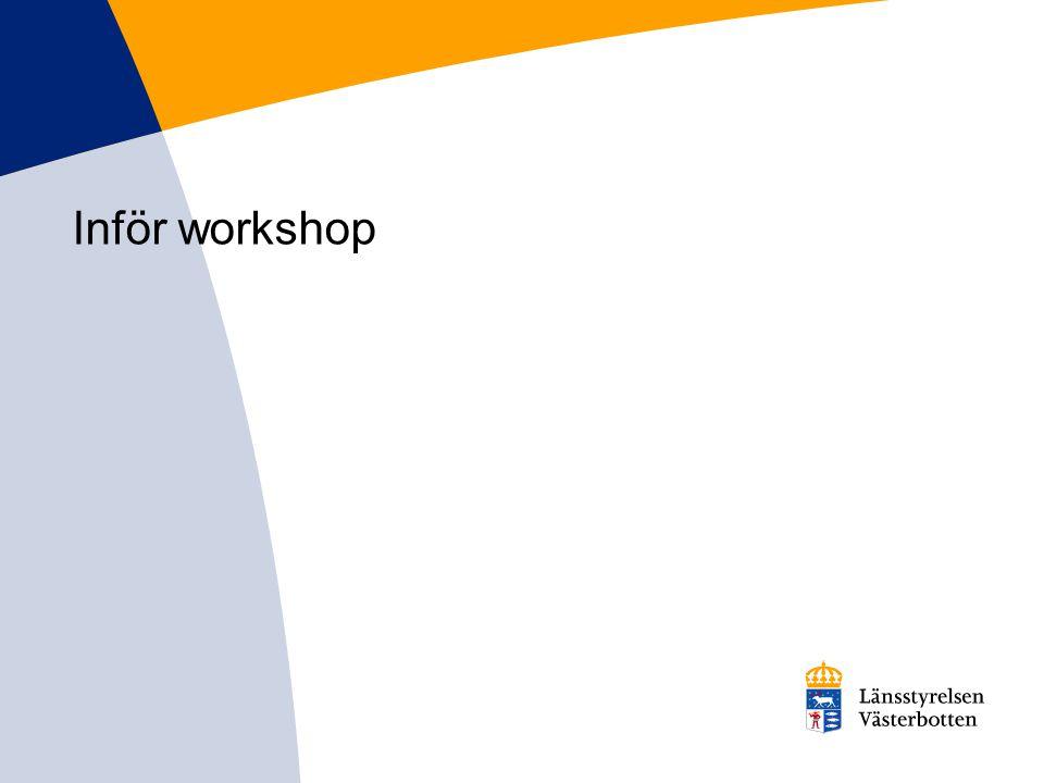 Inför workshop