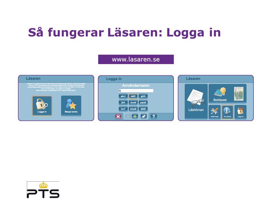 Så fungerar Läsaren: Logga in www.lasaren.se