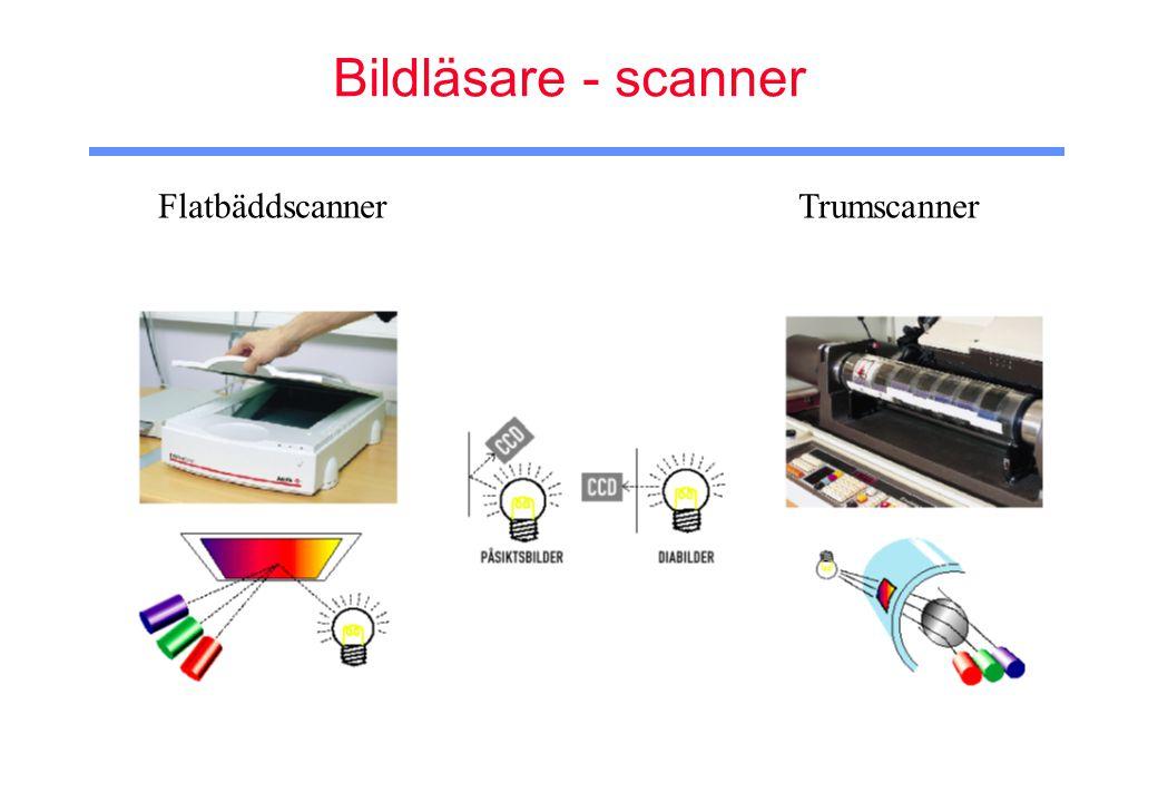 Bildläsare - scanner Flatbäddscanner Trumscanner