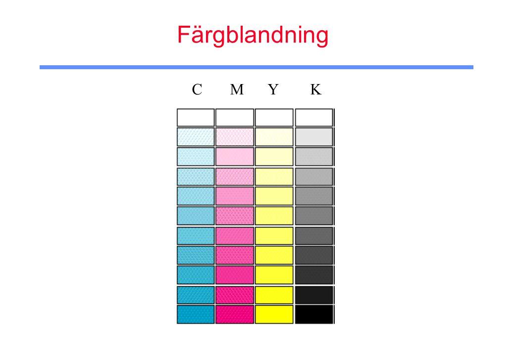 Färgblandning C M Y K