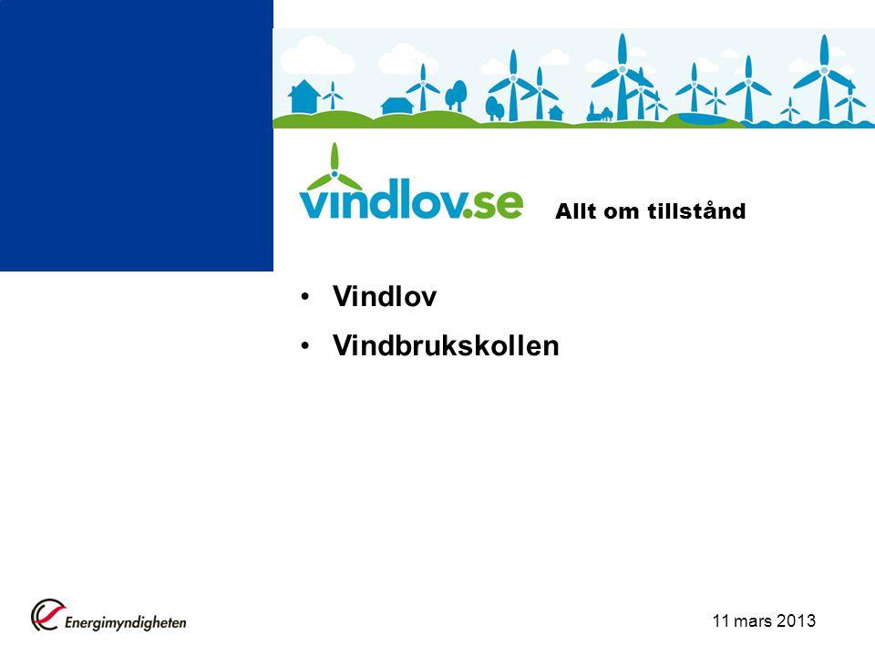 Allt om tillstånd Vindlov Vindbrukskollen 11 mars 2013
