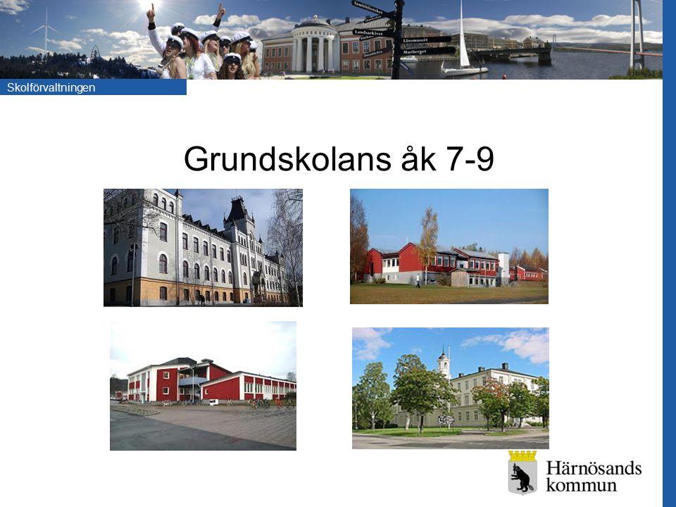 Skolförvaltningen Grundskolans åk 7-9