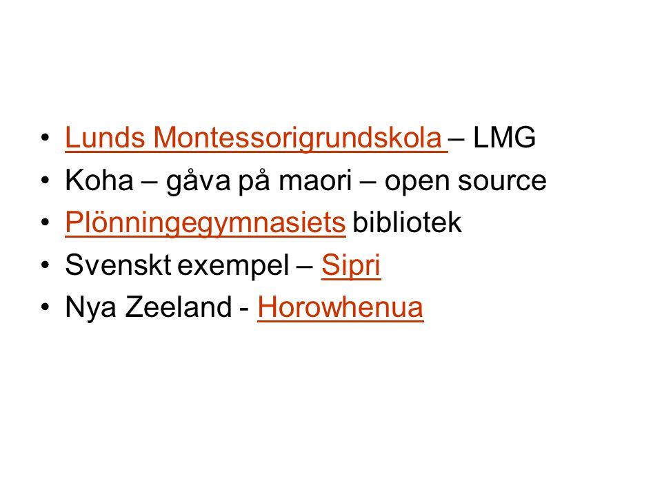Skolbiblioteket/ boksamling Föräldragruppen LMGs biblioteksnätverk 2005